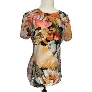 Ted Baker London Floral Short Sleeve Top Sz L